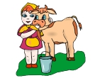 Cow Children Animal Vector Clipart