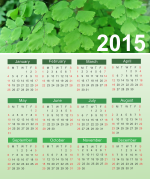 Beautiful Green calendar