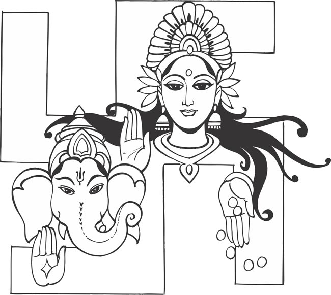 Line Art Hindu Gods : Hindus need to know more about lord ganesha rightlog